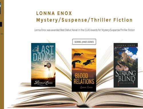 Mystery Author Website Design