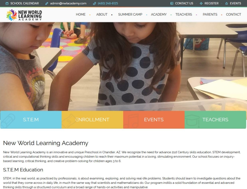 New website for New World Learning Academy www.nwlacademy.com