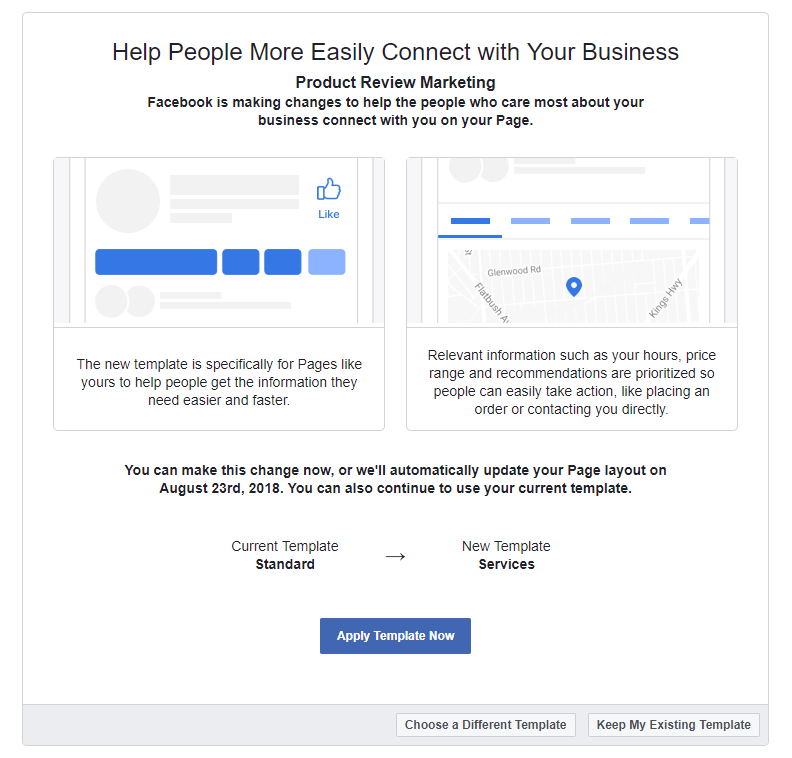 facebook page layout mk marketing services social media and