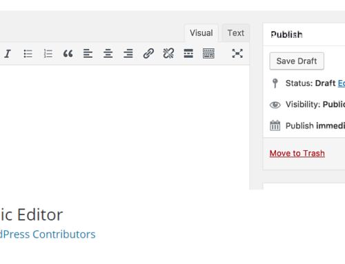 WordPress 5 Get the Classic Editor Back
