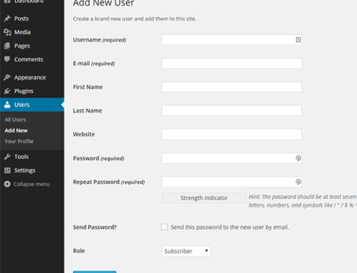 How to Add A New User on Your WordPress Website